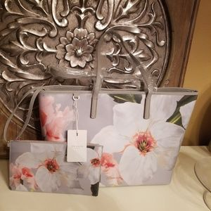 NWT Ted Baker London CHATSWORTH Canvas Shopper ++